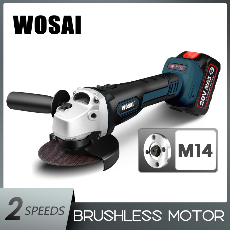 WOSAI M14 Cordless Angle Grinder 20V Lithium-Ion Grinding Machine Cutting Electric Angle Grinder Grinding Brushless Power Tool(China)