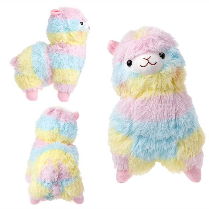 Rainbow Alpaca Plush Toy Lama Doll Cotton Stuffed Animal Toys