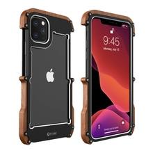Per il iPhone 11 Pro Max 5s SE 2 Cassa Del Respingente di Legno Forte Hybrid Duro Antiurto Cassa Dellarmatura per il iPhone xr 6S Plus 8 7 Xs MAX Copertura