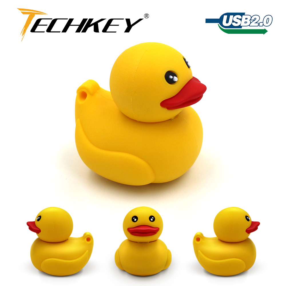2018 Newest Pen Drive 32gb 16gb Yellow Duck 8gb 4gb Cute Animal Flash Stick 64gb PC Memory Device Special Gift Free Shipping