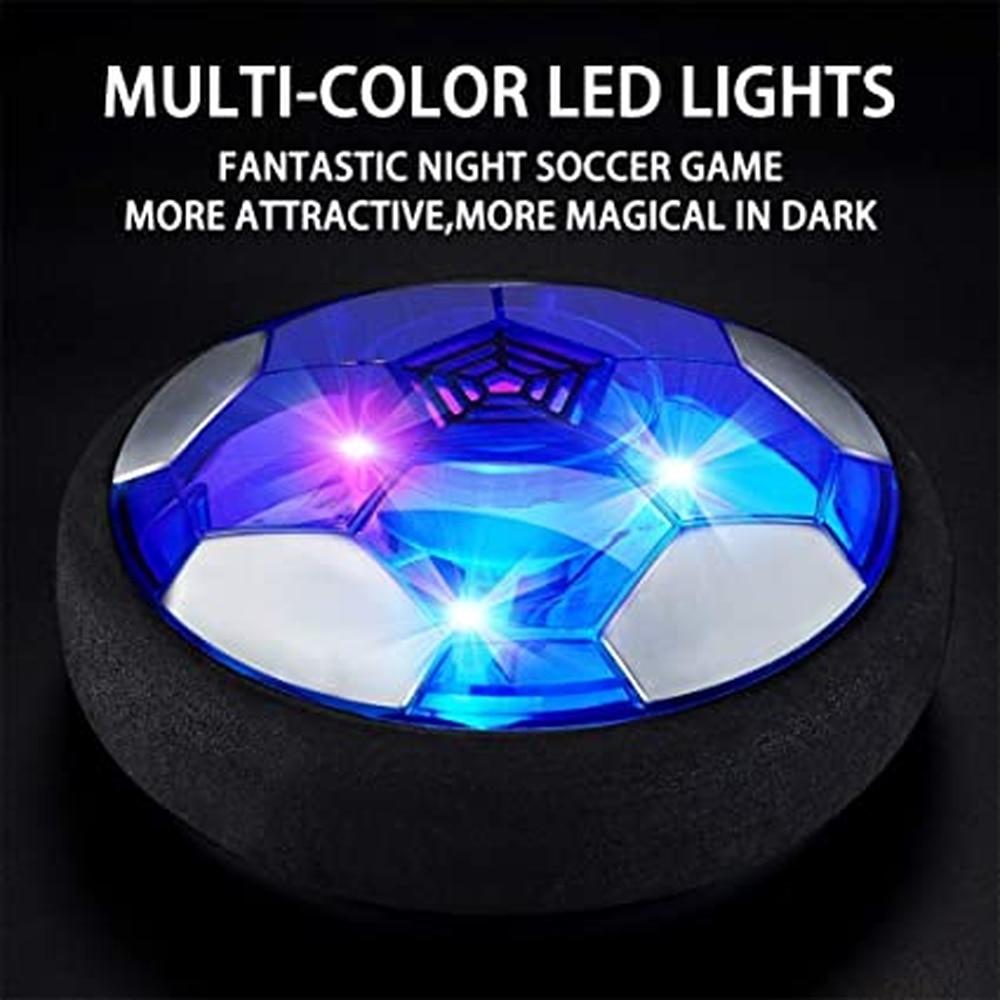Hover, balón de fútbol para niño, juguetes Air Soccer, balón de fútbol flotante para interior con luz LED y parachoques de espuma mejorado, regalos de cumpleaños para chico