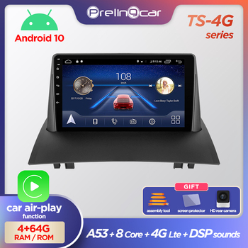 Prelingcar Android 10.0 NO 2 din DVD Car Radio Multimedia Video Player GPS Navigation For Renault Megane 3 2008-2014 Octa-Core image
