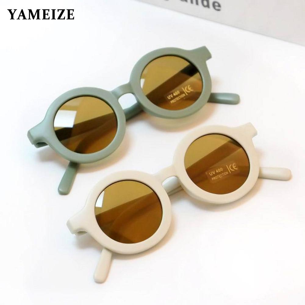 YAMEIZE Fashion Round Kids Sunglasses Boys Girls Vintage Sun Glasses UV Protection Classic Children Eyewear Lentes De Sol Gafas