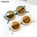 YAMEIZE Mode Runde Kinder Sonnenbrille Jungen Mädchen Vintage Sonnenbrille UV Schutz Klassische Kinder Brillen Lentes De Sol Gafas