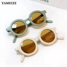 YAMEIZE-Gafas De Sol redondas para niños y niñas, Lentes De Sol Vintage con protección UV, clásicas, a la moda