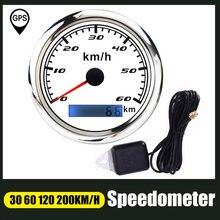Спидометр цифровой 85 мм с красной подсветкой и GPS-антенной, 30/60/120/200 KMH