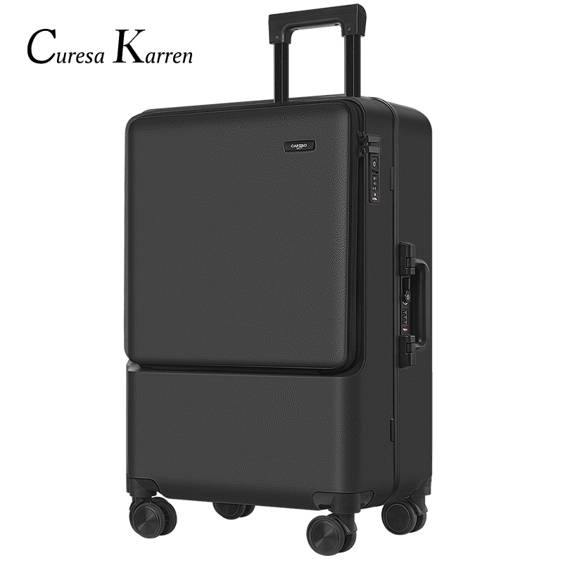 Fashion Business Trolley Luggage Boarding Suitcase Unisex Students High Quality Rotating Roller Hand Push Box Free Shopping