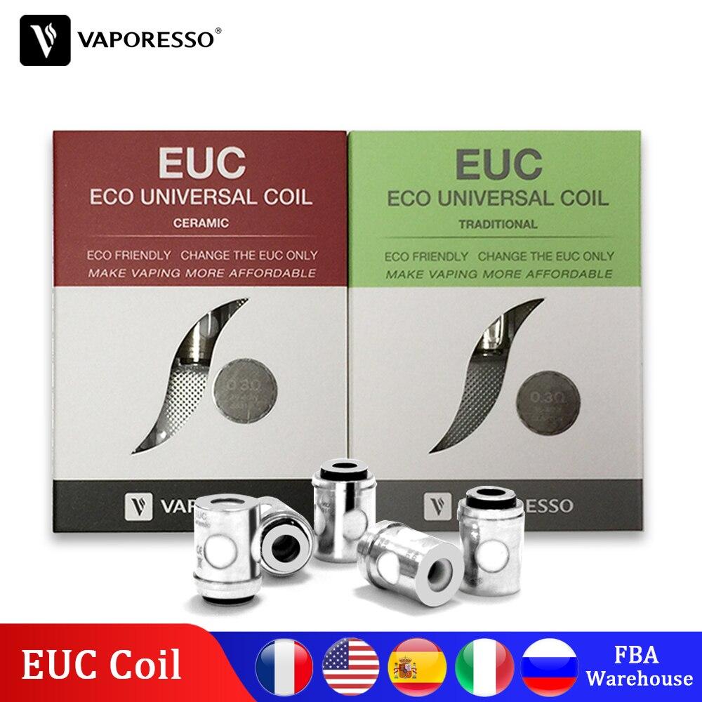 Bobine EUC traditionnelle en céramique vaporéso SS316L 0.3ohm 0.5ohm 0.6ohm 0.4ohm bobine pour réservoir Veco Plus