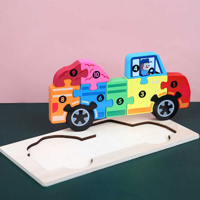 Gỗ 3D Xếp Hình Ghép Hình Cho Bé Bé Hoạt Hình Động Vật/Giao Thông Bộ Ghép Hình Giáo Dục Đồ Chơi Trẻ Em Đồ Chơi Quà Tặng Cho Bé Trai Và Bé bé Gái