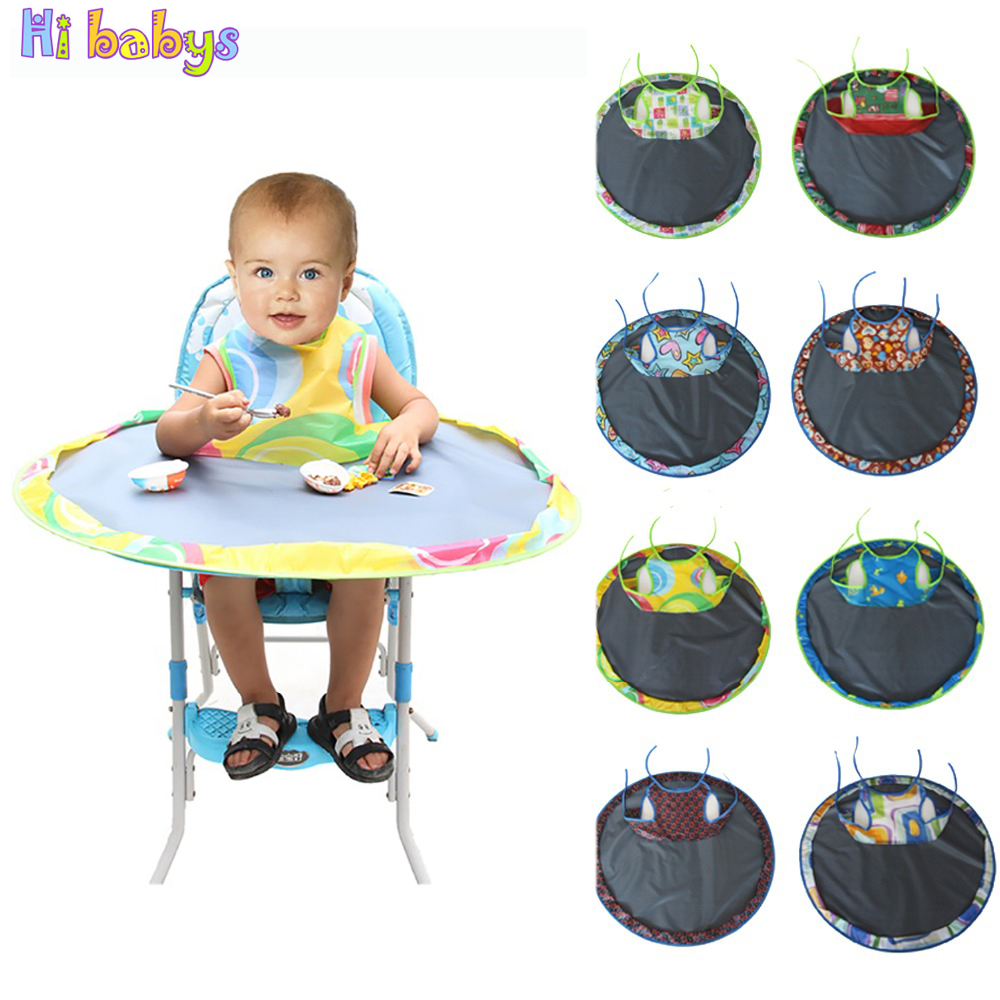Baby Eating Table Mat Baby Feeding Saucer High Chair Cover For