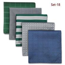 Mens Pocket Square Colorful Bundle Fashion Accessories Business Hanky Pack Classic Gift