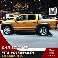 Ücretsiz kargo 2 adet serin stil şerit araba vücut etiket grafik vinil araba sticker AMAROK kanyon 2017-2019