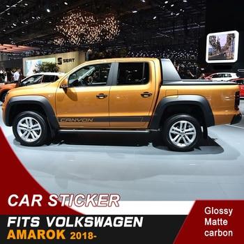 цена на free shipping 2 Pcs cool styling stripe  car body sticker graphic Vinyl car sticker for AMAROK canyon 2017-2019