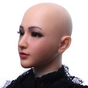 Image 3 - Dokier מציאותי סיליקון מלא ראש פנים מציב נשי Masquerade ליל כל הקדושים קוספליי דראג קווין Crossdresser כיסוי פנים צלקות