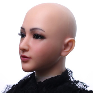 Image 3 - Dokier Realistic Silicone full head face props Female Masquerade Halloween Cosplay Drag Queen Crossdresser Cover Facial Scars