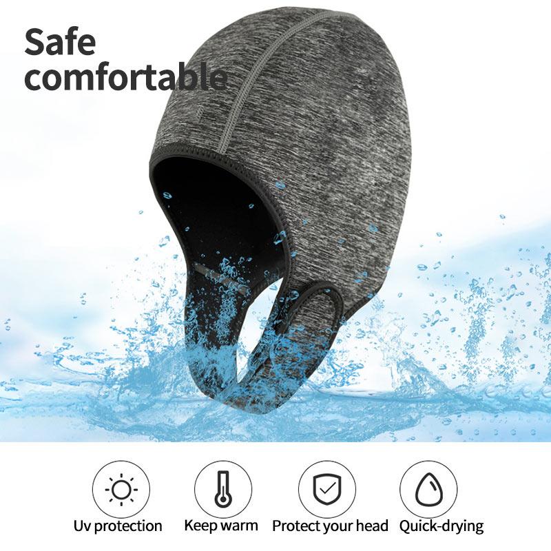 Шапка для плавания 3 мм, Неопреновая шапка для дайвинга, профессиональная ткань Uniex NCR, зимние водонепроницаемые гидрокостюмы, накидка на гол...