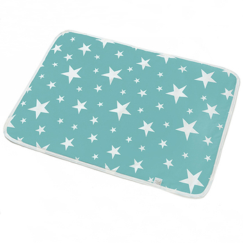 changing mat - minty blue