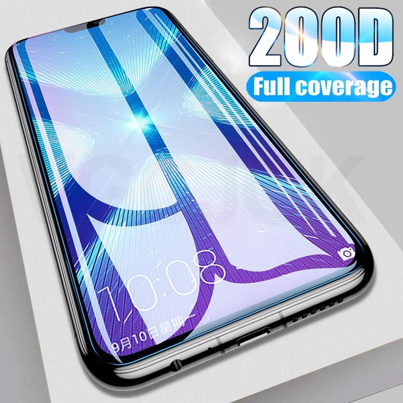 200D verre trempé de protection complète pour Huawei Honor 9 10 20 Lite 9i 10i 20i 8X 8A 8C 8S protecteur décran étui en verre de sécurité