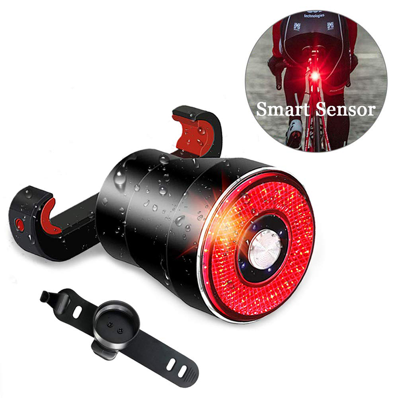 Bicycle Smart Auto Brake Sensing Light IPx6 Waterproof LED Charging Cycling Taillight Bike Rear Light Accessories Q5