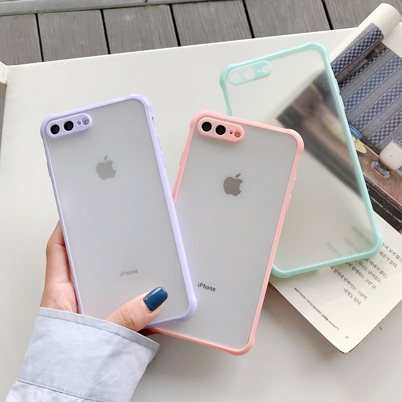 Simple Protection Case For iPhone 12 Pro Mini 11 11 Pro Max XR XS Max X 8 7 Plus Case Matte Translucent Shockproof Back Cover