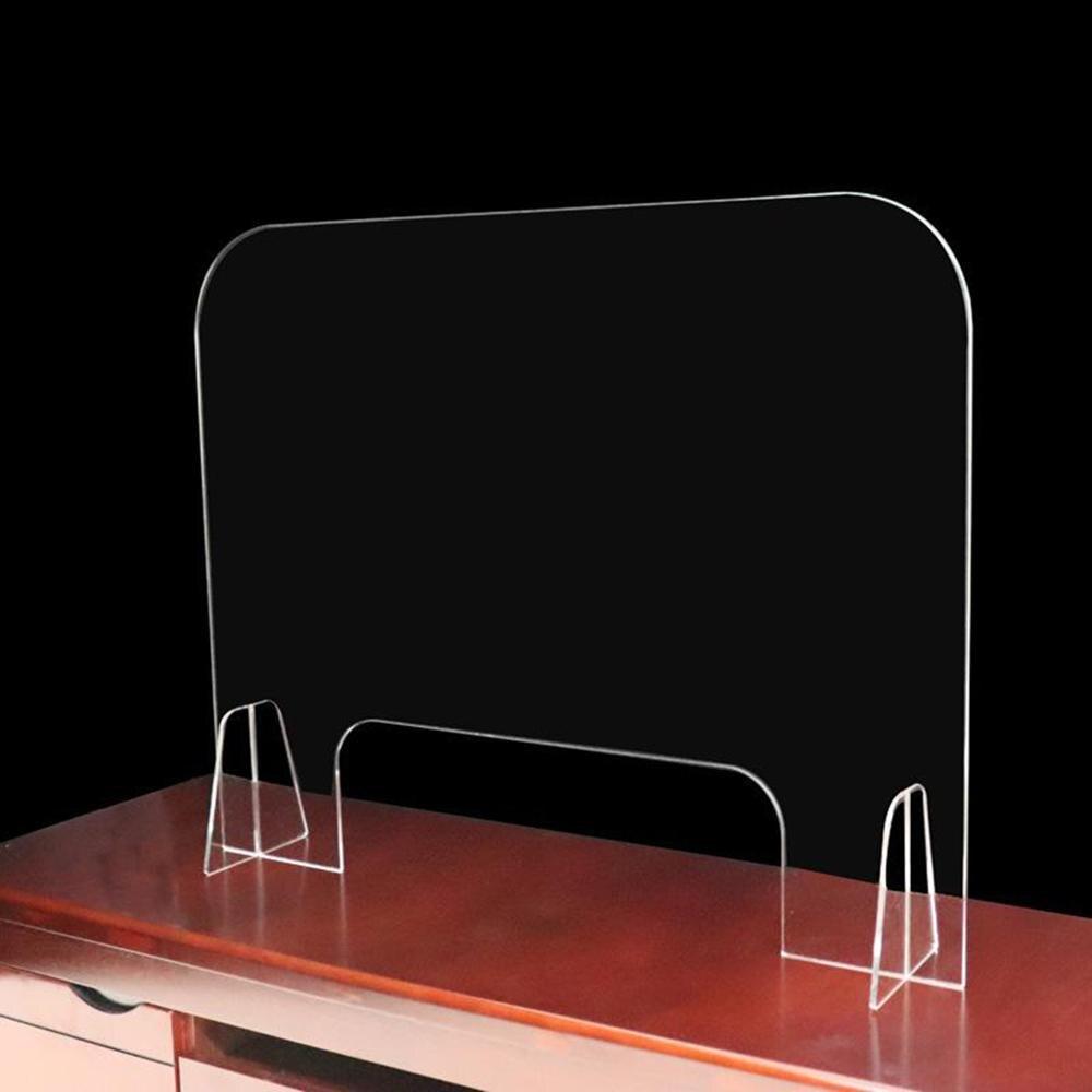 Акриловый разделительный барьер для чистого барьера, защита для рабочего стола, прозрачный экран для защиты высоты