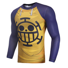 Anime 3d Print Tee Men Raglan Sleeve Compression T Shirts 2019 Long Sleeve Hip Hop Tops Male Cosplay Costume Streetwear