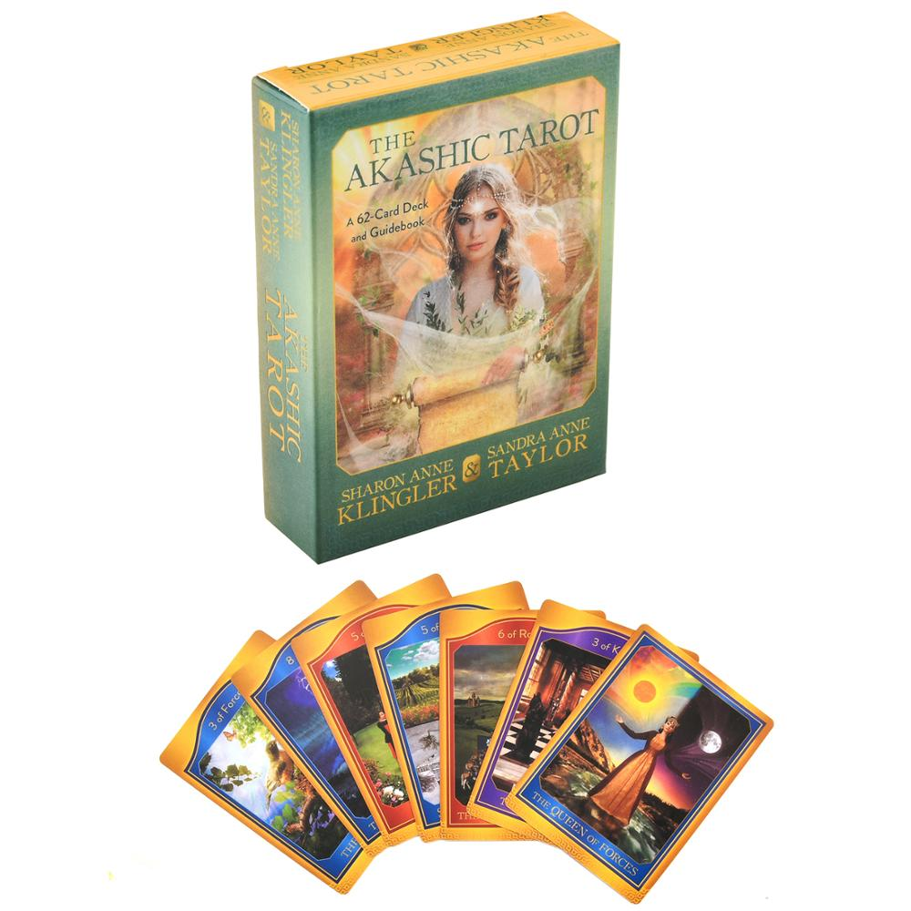 The Akashic Tarot Oracle Deck Tarot Deck Cards Game Witch Tarot Deck Table Card Board Games Party Playing Cards Family Games image