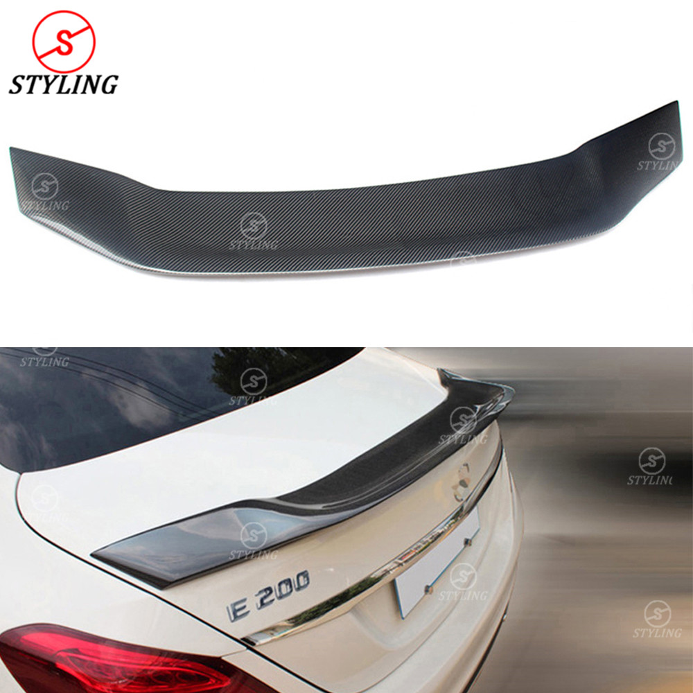 Mercedes W213 E200 E250 E350 Sedan Carbon Fiber Rear Spoiler R Style for 2016