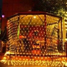 Curtain Fairy-String-Lights Christmas Garland Window Garden Wedding Outdoor New-Year-Decor