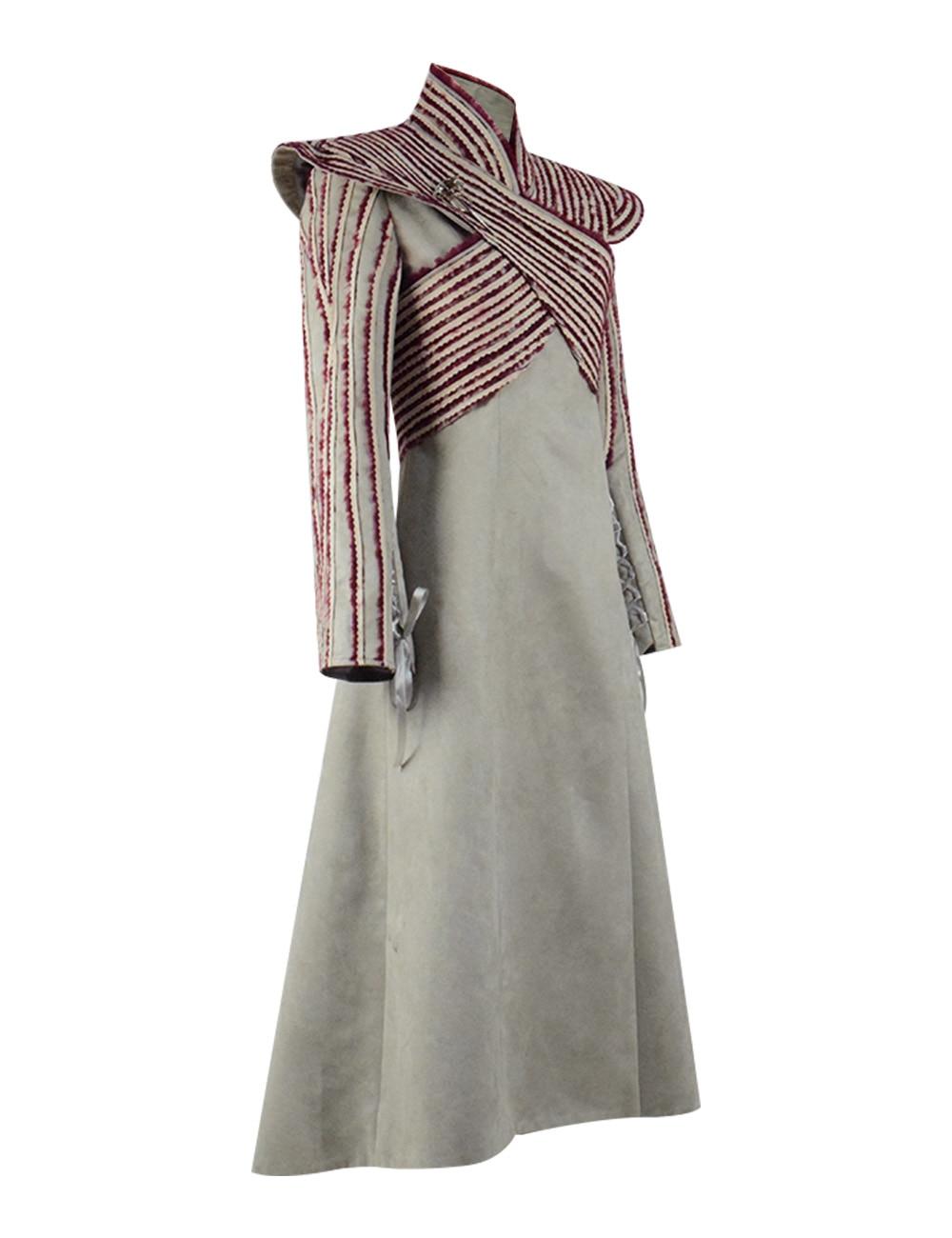 Cosdaddy Daenerys Targaryen Cosplay Costume Women Winter Dress Coat Long Jacket Gown With Cape Halloween Party Costume