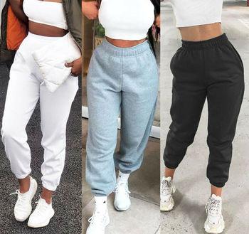 цена на Women Casual Sweatpants Jogger Dance Harem Pants Sports Baggy Trousers solid  fitness pants Casual Girls Drawstring Long Pants