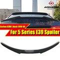 M4 Стиль задний спойлер багажника для BMW 5 серии E39 седан углеродное волокно задний спойлер Крылья 520i 523i 525i 528i 530i 535i 540i 96-03