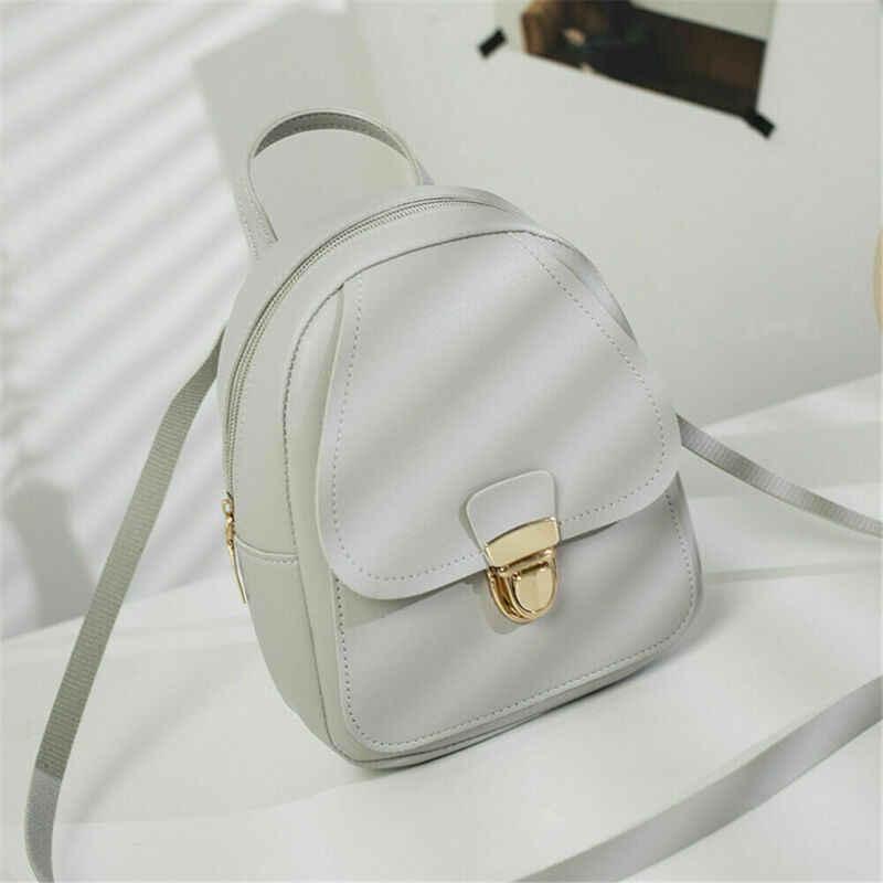 2019 ใหม่ล่าสุดผู้หญิง Mini ของแข็งกระเป๋าเป้สะพายหลัง Rucksack กระเป๋าเดินทางกระเป๋าสาววัยรุ่นโรงเรียนกระเป๋า
