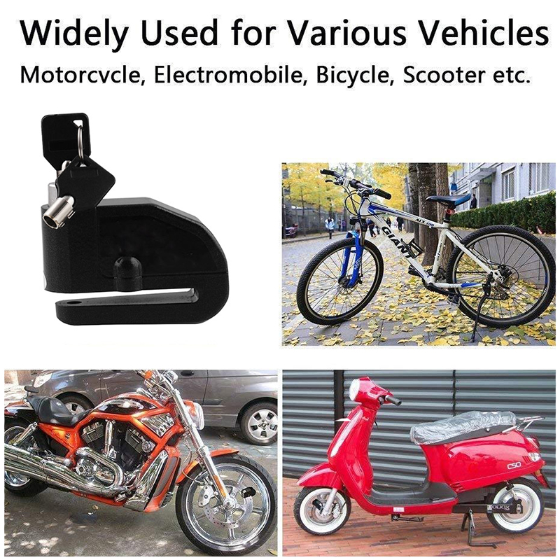 Portable with 2 Keys Safety Lock Anti-theft for Motorcycle Scooter Electrombile