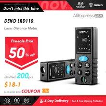 DEKO LRD110 Handheld Laser distanzmessgerät 40M 60M 80M 100M Mini Laser entfernungsmesser Laser Band Palette finder Diastimeter Messen