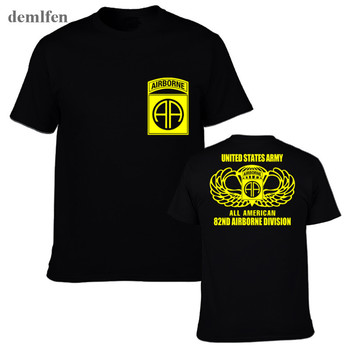 New 82nd Airborne Special Force Army Military Veteran T-shirt Men Cotton Short Sleeve T Shirt Tops Tees - discount item  20% OFF Tops & Tees