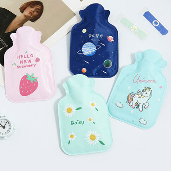 1pc Cute Hot Water Bottle Warm Belly Treasure Cartoon Unicorn Hand Warmer Filled Mini Explosion-proof Portable Hot Water Bags image