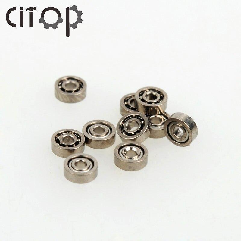 10 teile/satz Silber Ton 681ZZ Ball Eisen Tiefe Nut Lager Metall Offene Mikro Miniatur Mini Kugellager 1*3*1mm Reparatur Werkzeuge