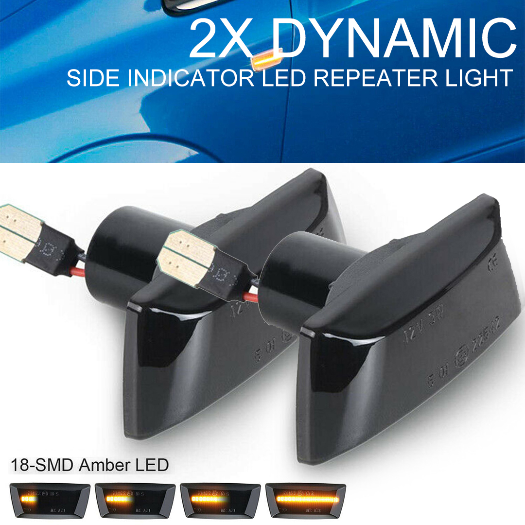 Mayitr 2pcs 12V 1.8W Side <font><b>LED</b></font> Indicator Repeater Light Flowing Water Lamp Fit For Adam <font><b>Astra</b></font> H <font><b>J</b></font> GTC VXR Corsa Zafira D Insignia image