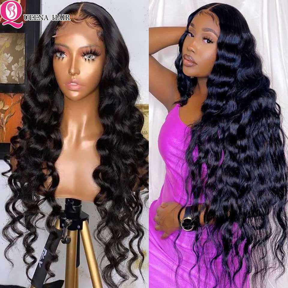 Loose Wave Wig 30 Inch Lace Front Human Hair Wigs For Women 5x5 Lace Closure Wig HD Lace Frontal Wig Remy Loose Wave Closure Wig
