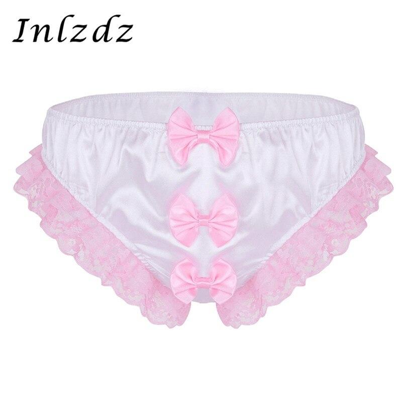 Gay Sissy Panties Mens Underwear Hot Sexy Lingerie Gay Underwear Thong G-string Stretchy Briefs Shiny Erotic Male Sissy Panties