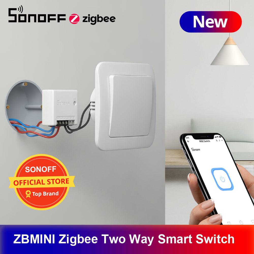 SONOFF ZB MINI Zigbee 3.0 DIY Smart Switch Two Way Switch APP Remote Control Works With Smartthing/ Hue Hub/ SONOFF ZB Bridge