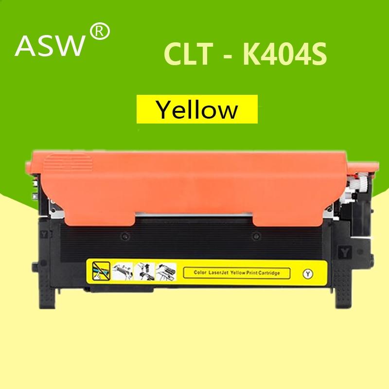 ASW Toner Cartridge CLT-K404S M404S C404S CLT-Y404S 404S Compatible For Samsung C430W C433W C480 C480FN C480FW C480W Printer