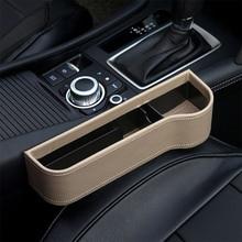 Leather Car Seat Organizer Holder Organizer Multifunctional Auto Seat Gap Storage Box ABS Seat Seam Pockets Trunk Organizer