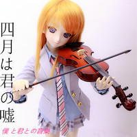 Accept Custom COS Your Lie in April Kaori Cosplay Clothes School uniform violin shoes wig For 1/3 BJD SD DD DDL Doll Accessories