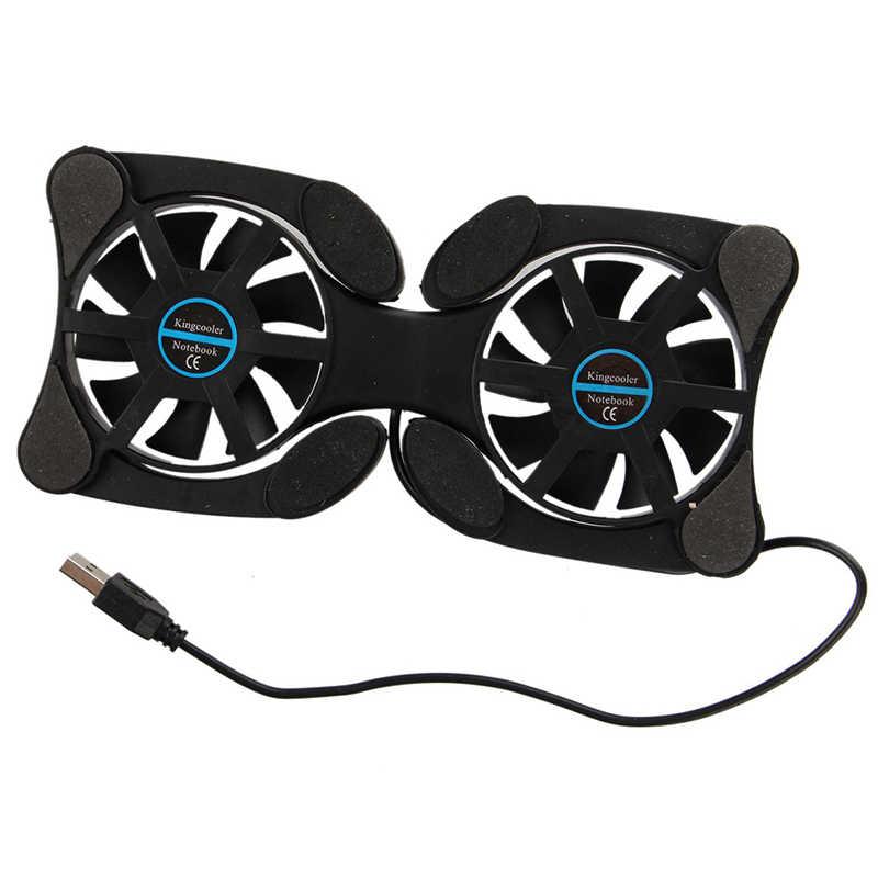 Dizüstü soğutma pedi Fan bilgisayar için harici hava soğutucu Usb soğutucu katlanabilir dizüstü bilgisayar standı için 14 inç Notebook Macbook Lenovo için