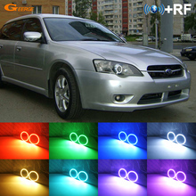 Excelente RF remoto Bluetooth APP Multi Cor Ultra brilhante RGB LEVOU Angel Eyes kit Para Subaru Legacy Liberty B4 IV 2004 2005 2006