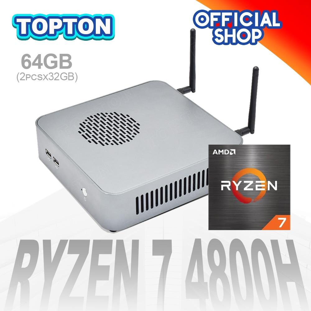 Горячая мини ПК Ryzen 7 4800H 8 ядер 16 ниток Nuc игровой компьютер M.2 PCIE Radeon Graphics HTPC 3*4K HDMI2.0 DP Type-C WiFi6 BT5.1