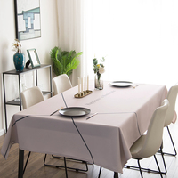 American simple geometric stripes strip table linen tablecloth round waterproof oil and hot household