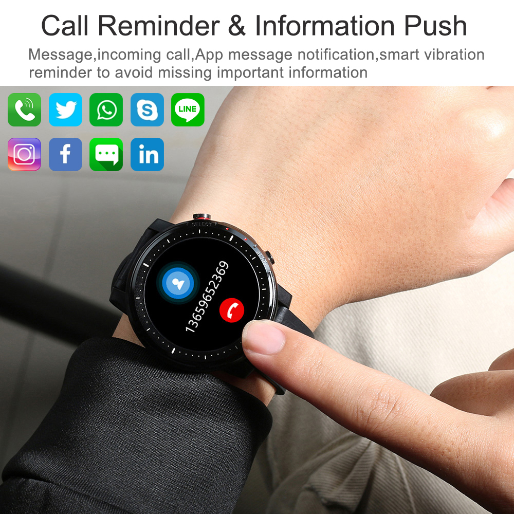 2021 Full touch Smart Watch Men Sports Clock IP68 Waterproof Heart Rate Monitor Smartwatch for IOS Android phone 6